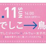 國武愛美選手選出のなでしこジャパンの試合の応援に行ってきます